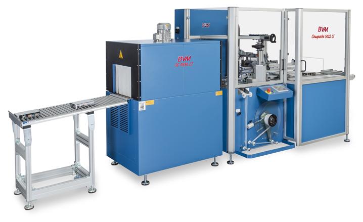 Imagen del producto de un ejemplo de una máquina de envoltura retráctil de la serie BVM Compacta